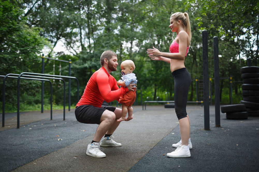 family workout and fitness