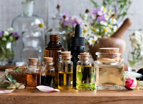 assortment of essential oils