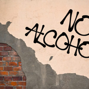 no alcohol wall graffiti