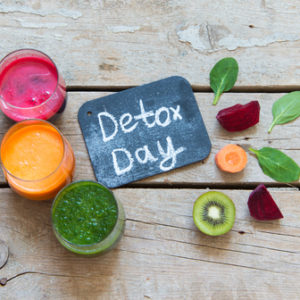 detox day with fruit juices