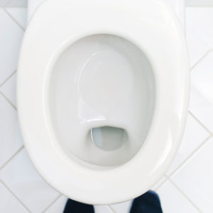 top view of toilet bowl