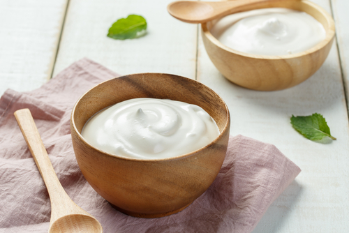 bowl of creamy greek yogurt