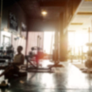 blurry view of gym