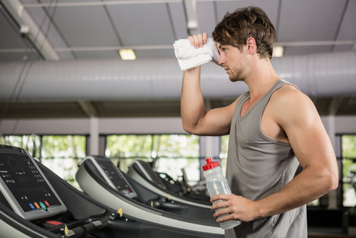 man regularly working out