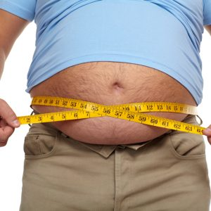 overweight man with tape measure can start using Progentra