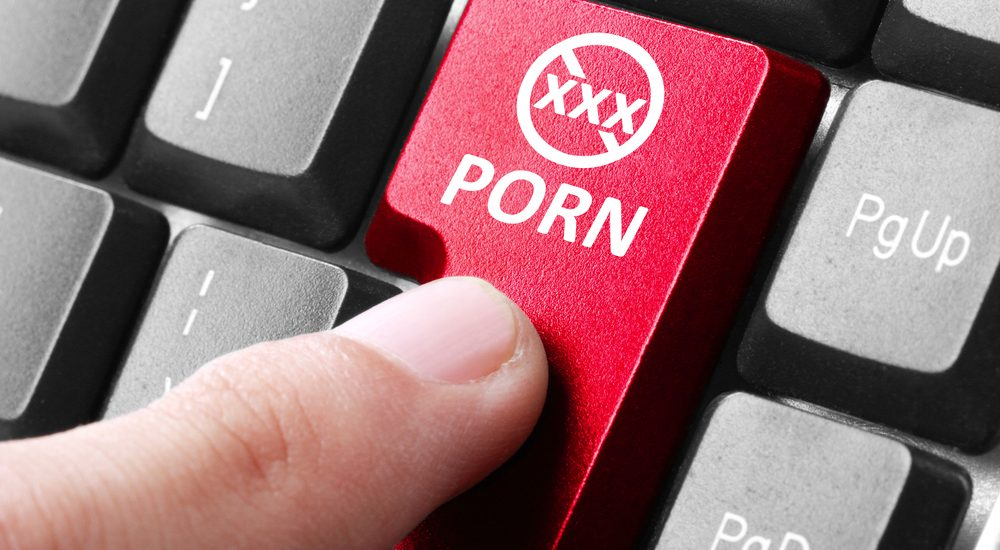 pressing porn enter on keyboard