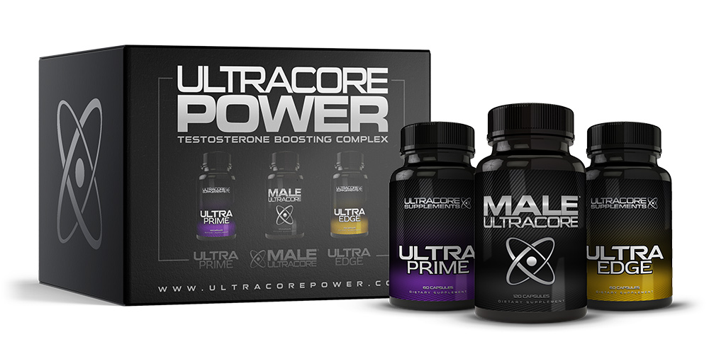 3 Bottles of UltraCore Power Testosterone Supplements