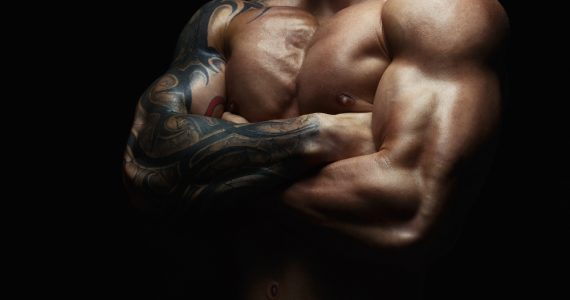 chest / man with arm tattoo